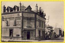 cpsm BAZANCOURT en 1957 (Marne) HÔTEL MODERNE Café Restaurant Billard Merlin