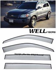 For 01-07 Highlander WellVisors Side Window Visors Premium Series Rain Guard