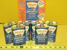 Vintage DELCO Special 19 WINDSHIELD WASHER SOLVENT 6oz ! FULL CASE !Oil Can Sign