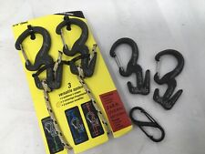 Nite Ize Figure 9 Carabiner Small Rope Tightener 2-Pack Black 2 Figure 9 + Small