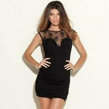 GUESS Black Cindy  Laced Ruched Bodycon Dress Size XS