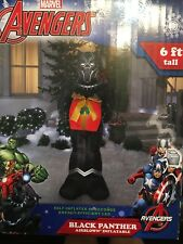 6' Holiday Inflatable Christmas Decorations Marvel Avengers Black Panther