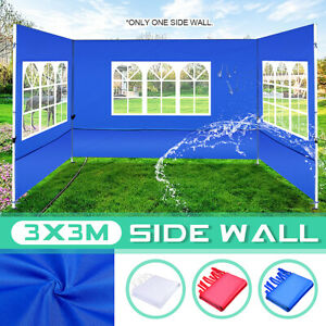 3x3M Tent Side Wall Gazebo Marquee Canopy Party Sun Shade Waterproof Garden Yard