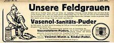 Campo nuestra materia gris Vasenol ásperos-u. kinderpuder histórico anuncio 1918