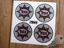 BSA Oro Estrella estilo clásico redondo juego de 4 pegatinas