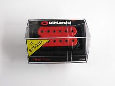 DiMarzio F-spaced Titan Neck Model Humbucker Red W/Black Poles DP 258