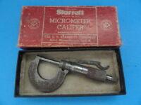 Starrett Micrometer Caliper with Original Box * VINTAGE