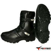 Motorcycle OFF Road Leather Boots Short Ankle Boots Waterproof Shoes Touring CE