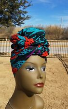 African Multicolor Headwrap;African Headwrap; African Clothing; African Fabric