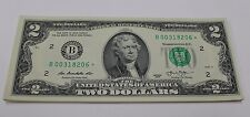 Uncirculated 2013 Two Dollar Star Note FRB New York $2 Bill