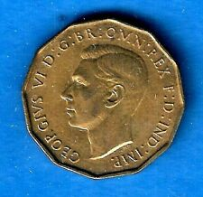 1937 George Vl 3d Brass Threepence British English Coin XF to Uncirculated