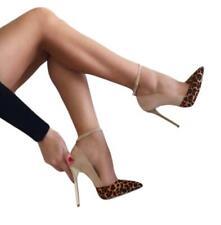 Damen High Heels Stilettoabsatz Spitz Zehe Business-Schuhe Gr.45 46 47 Bankett L