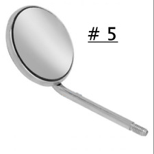50 Pcs Dental Orthodontic Stainless Steel Mouth Mirrors 5 Plain Size Mirror Ss
