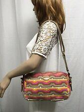 Fossil canvas purse shoulder bag bag pink green khaki