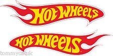 Motorsport- Sponsor Aussen Vinyl Sticker Hot Wheels Motorrad Aufkleber Gelb Rot