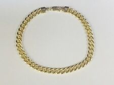 "10k Oro Amarillo cubano de Miami Bordillo Enlace 8.5"" 4.5mm 4.5 gramos Pulsera HMC120"
