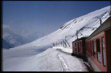 35mm slide+© FO Furka Oberalp-Bahn HGe 4/4 32 Oberalppass Switzerland 1986 origi