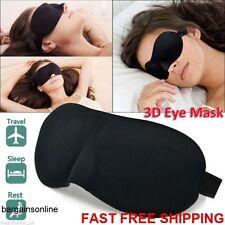 Soft Padded Blindfold 3D Eye Mask Travel Bedtime Sleep Cover Unisex Blackout