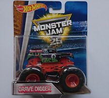 HOT WHEELS MONSTER JAM 2017 GRAVE DIGGER TRUCK DWN23 25TH ANNIVERSARY