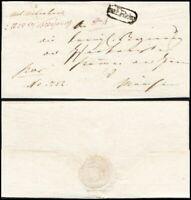 1823, ERDING, kpl. Paket-Begleitbrief nach München (Hb € 120.00)