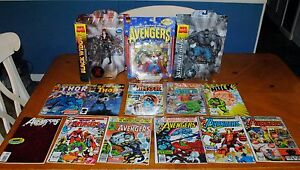 AVENGERS DEAL - BLACK WIDOW, THOR & HULK - ACTION FIGURES AND COMIC BOOKS