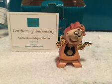 "WDCC Beauty and The Beast - Miniature Cogsworth ""Meticulous Major Domo"" NIB"