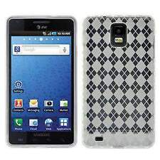 AMZER LUXE ARGYLE TPU SOFT GEL SKIN CASE FOR SAMSUNG INFUSE 4G I997 - CLEAR