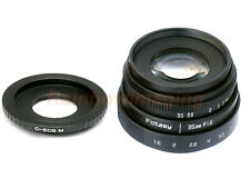 35MM APS-C F1.6 MC Lens + Adapter for Canon EOS M M6 Mark II, M10, M50 M100