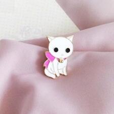CG2501...ENAMEL KITTEN LAPEL PIN or TIE TACK - FREE UK P&P