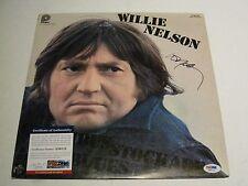 Willie Nelson Autographed Self Titled Vinyl LP PSADNA # X50113