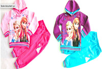 Kids Girls FROZEN PRINCESS Disney Characters Tracksuit Outfits Set,2 4 6 8 10yrs