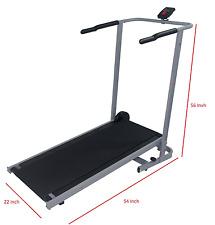 "Manual Treadmill  cardio walk run exercise Foldable 22""W 54""L 56""H+Counter NEW"