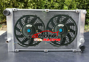 ALUMINUM RADIATOR + FANS for PORSCHE 944 2.5L /2.7L MT NON-Turbo 1983-1988 84 85