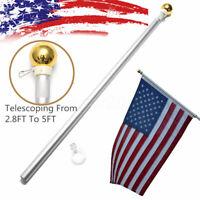 USA 5 ft Sectional Aluminum flagpole US American  3x5 Flag Pole Gold Ball Kit US