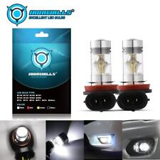 IRONWALLS H8 H9 H11 H16JP 6000K Super White 100W LED Headlight Bulbs Kit Fog DRL