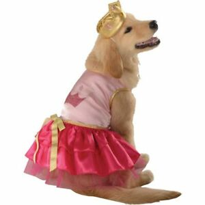 New Size Small Pink Princess Pup w Tiara Dog Pet Halloween Costume Rubie's
