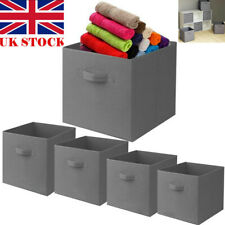 6 x Foldable Storage Collapsible Folding Box Clothes Organizer Fabric Cube Boxes