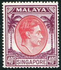 SINGAPORE-1948 40c Red & Purple Sg 26 UNMOUNTED MINT V32661