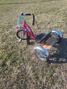 Vintage Style  Schwinn  Tricycle Metallic Hot Pink