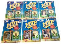 (6) Major League Baseball M.V.P. Vintage Collectible Pin & Card Set Lot 1990 Ace