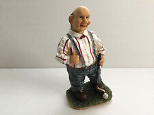"Old Man Golfer Figurine Ceramic 8"" Tall Home Decor"