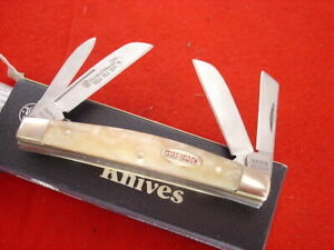 "Smith & Wesson 3-5/8"" TEXAS HOLD'EM Cracked Ice 4 blade Congress Knife MINT"