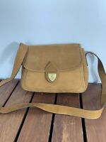 ESCADA Authentic Tan Leather Shoulder Bag Made in Italy