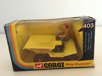 CORGI TOYS - THWAITES TUSKER SKIP DUMPER - No. 403 - ORIGINAL CONDITION - BOXED