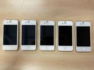 5 x Apple iPhone 4S - White A1387 *Faulty* *READ DESCRIPTION*