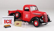 1:25 FIRST GEAR *RED* 1938 International D-2 Pickup Truck SPEEDWAY w/Cooler NIB*