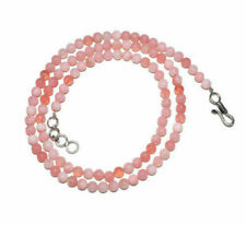 """Pink Opal Gemstone 8-9mm Smooth Round Beads 12-45"""" Strand Necklace NH5244"""
