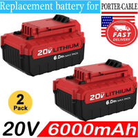 2Pack For PORTER CABLE PCC685L 20V MAX 6.0 Lithium PCC680L PCC682L 6.0AH Battery