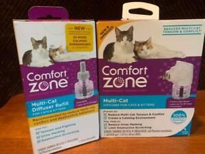 Comfort Zone Multicat Control Diffuser Kit  & Refill LOT SEALED Retail
