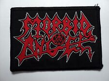 MORBID ANGEL RED LOGO  WOVEN  PATCH